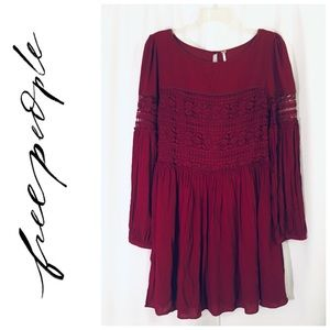 Free People Pierced With Lace Dress